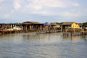 An island on stilts