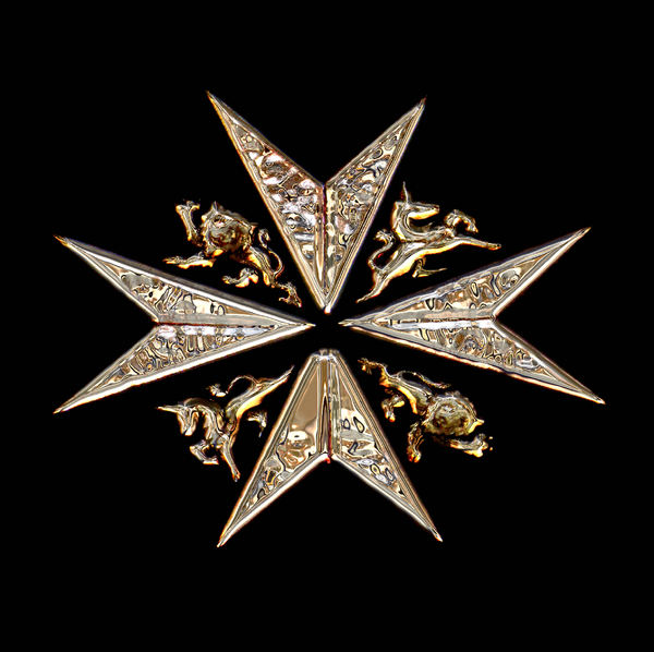 moltem metal maltese cross