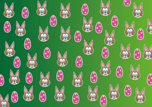 Rabbit and egg 2: Easter rabbit and egg
