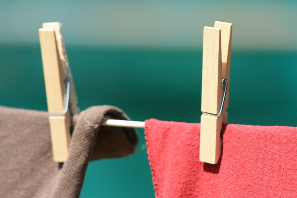 Clothes drying on line: Clothes drying on line