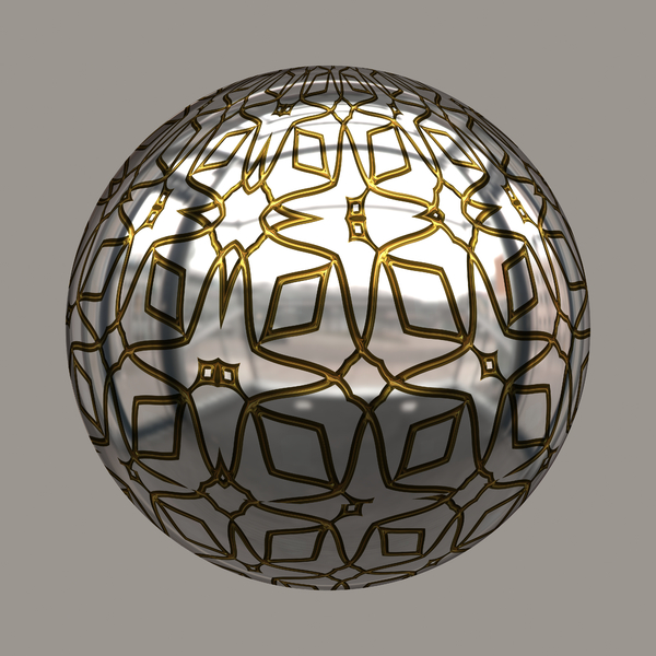 Shiny Patterned Bauble 1
