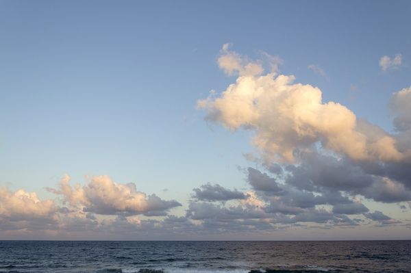 Coastal cloud at dawn