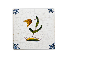Dutch tulip tile: Old Dutch tulip tile