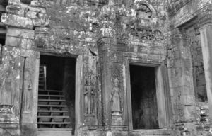 temple dancers13: artistic carvings of temple dancers at Cambodia's Angkor Wat temple complex