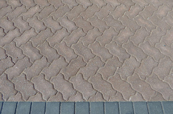 patterned pavement12: pavement area with various patterned surfaces
