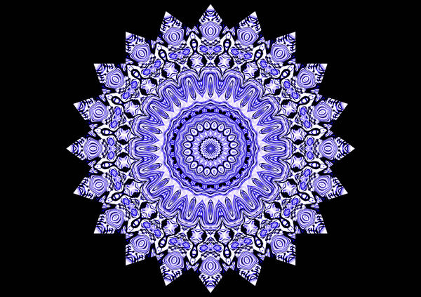 blue & white flower mandala