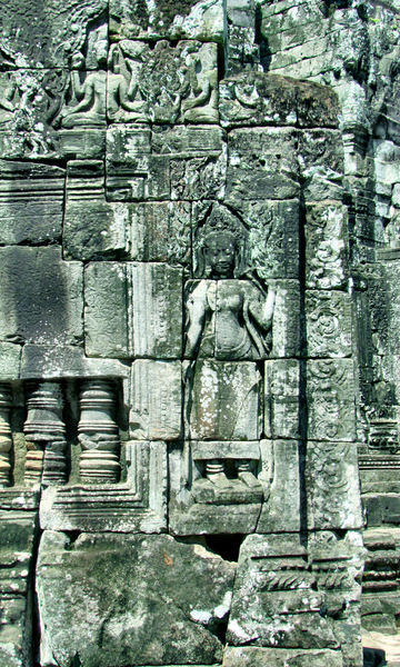 temple dancers19: artistic carvings of temple dancers at Cambodia's Angkor Wat temple complex