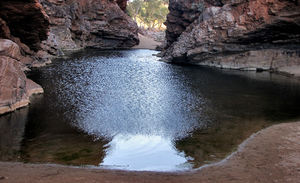rocky gorge pool1: central Australian rocky gorge and small water pool