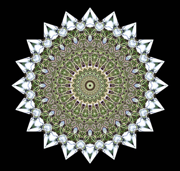 white points mandala