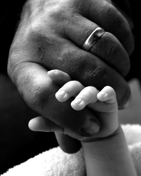 Two Hands 1: Father and new-born son's hands