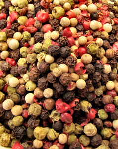bowl of mixed peppercorns2