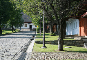 Lanckorona 4: The small town on the southern Polish with antique wooden houses.