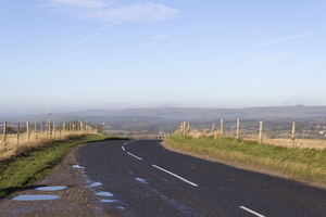 Rural road: A rural road overlooking Pewsey Vale, Wiltshire, England.