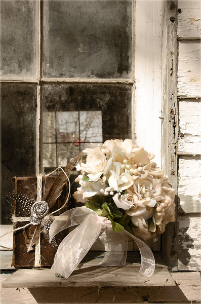 Bouquet and book