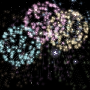 Fireworks with stars