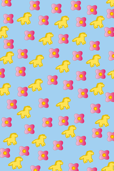 horse and flower pattern: horse and flowers pattern