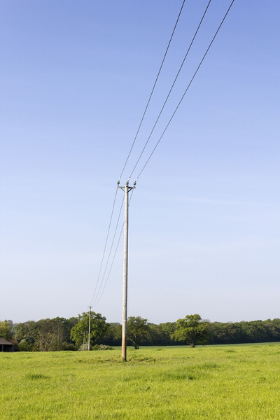 Rural power lines: Rural power lines in West Sussex, England.