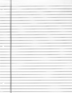 Notebook Paper: An actual photograph of lined paper
