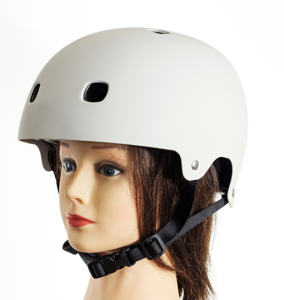 Bicycle Helmet: Bridgette demonstrates proper safety precautions