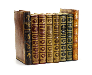 Decorative Book Set: A set of classic books from the 1940s