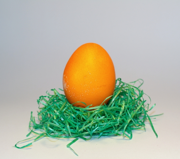 easter egg2: orange easter egg