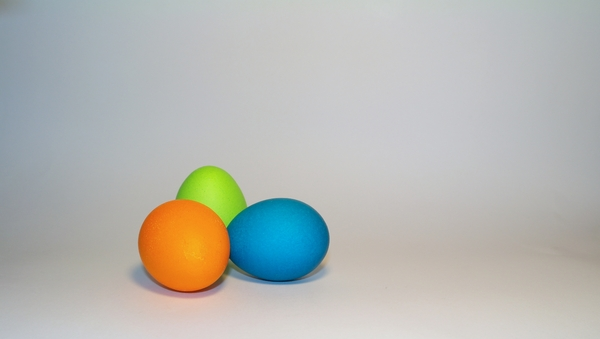easter1: some colored eggs