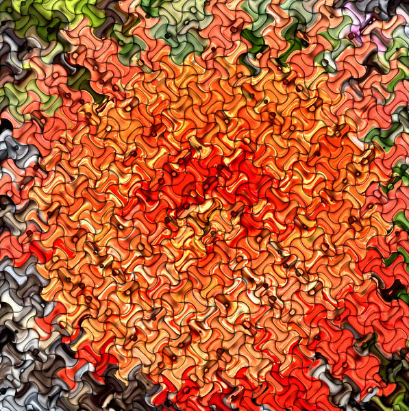 orange burst jigsaw