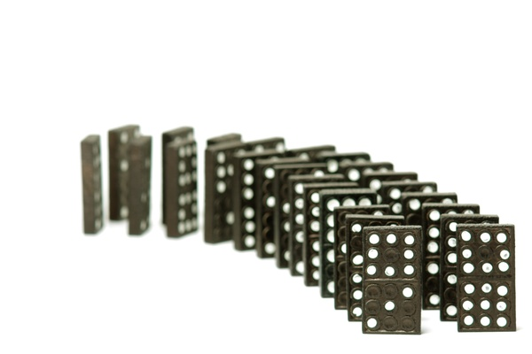 Domino pieces: Standing domino pieces