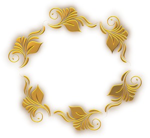 Round Golden Border: A circular golden ornate border or frame on a plain white  background. You may prefer this:  http://www.rgbstock.com/photo/o6eMxqa/Golden+Ornate+Border+13  or:  http://www.rgbstock.com/photo/nvi0UW8/Golden+Ornate+Border+2