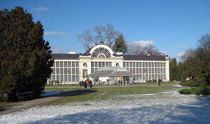 New Orangery in Warsaw: New Orangery. The building was built by Adam Adolf Loewe and Józef Orłowski in 1860.