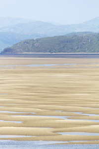 Sandbanks: Telephoto shot of sandbanks in the Mawddach Estuary, Wales.