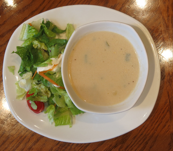 soup and salad: soup and salad