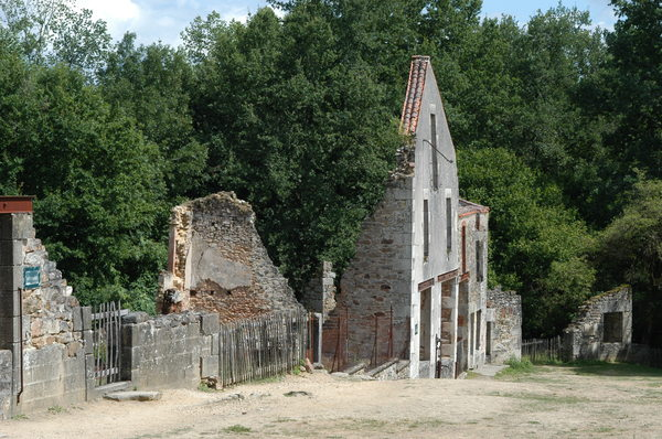 Oradour sur glane 1: On the 10 th of June 1945, 600 people were massacred by ss soldiers and village was burned. This village is maintained in the same state as a witness of past