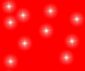 Christmas Stars on Red 2