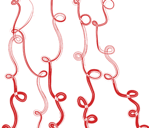 Swirly lines: Swirly red lines.