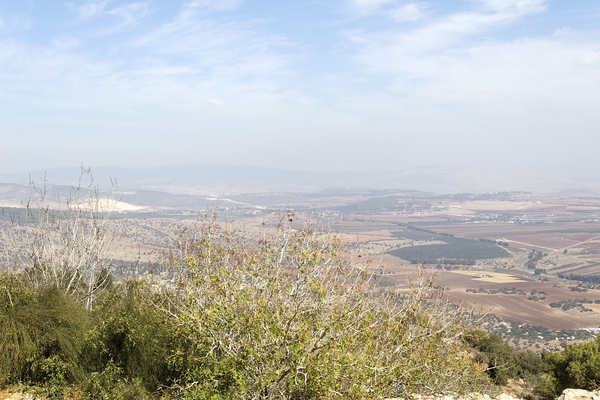 Israel landscape: View from the top of Mount Tabor, Israel.