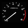 RPM gauge - black background