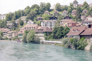 Bern cityscape 3: Photo of Bern cityscape along the Aare river