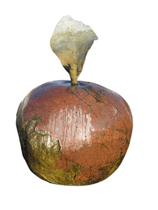 Stone apple: A stone apple - part of a fountain in Tarczyn.