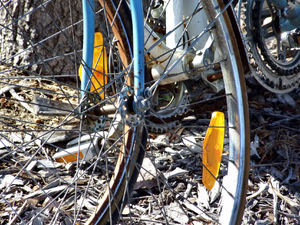 damaged & discarded3: unwanted and discarded bicycles and parts