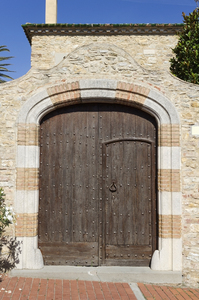 Old doors: Old doors in a village in Catalunya, Spain.