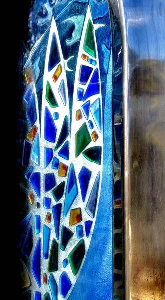 shaped chrome & glass mosaic1