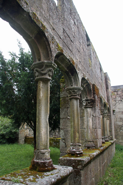Cloister ruins 1: Monastery ruins (Monasterio do Bon Xesus de Trandeiras), sited in Trandeiras, Ourense, Galicia, Spain, EU.