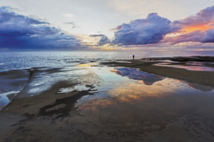 Reflections: Sunrise - Terrigal Haven, NSW 16th August 2014