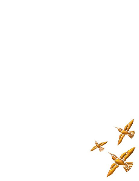 Golden Bird Border 3: A frame or border of golden birds in flight on a white background. 3d effect. You may prefer:  http://www.rgbstock.com/photo/oOSFyiE/Eagle+Border  or:  http://www.rgbstock.com/photo/nL3fW54/Golden+Vine+Border+3