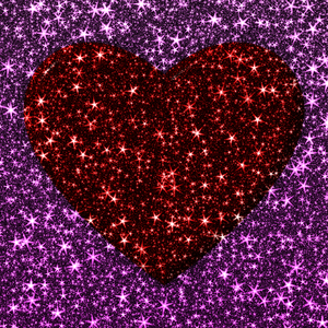 Sparkly Hearts 1