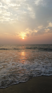 Sunset: Sunset evening at Benaulim beach in Goa.