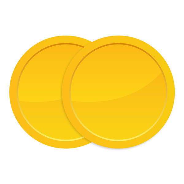 Golden Coins: Two golden coins.
