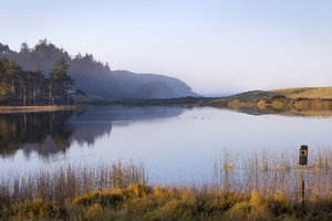 Garrison Lake: Garrison Lake, Port Orford, Oregon.