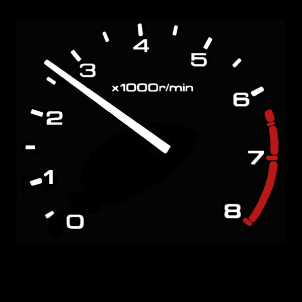 RPM gauge - Normal Driving